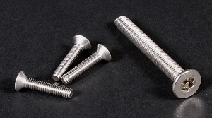A2 Pin Torx Security Countersunk Screws (DIN 7991) M10