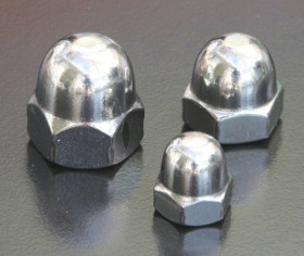 A4 Metric Dome Nuts (DIN 1587)