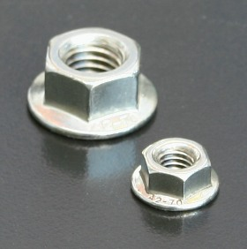 A4 Serrated Flange Nuts (DIN 6923) Metric