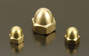 BRASS Dome Nuts (DIN 1587) Metric