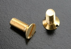 BRASS Slotted Countersunk Screws (DIN 963) M10
