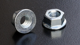 BZP-8 Metric Non-Serrated Flange Nuts (DIN 6923)