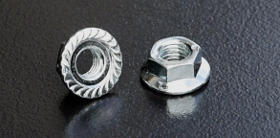 BZP-8 Serrated Flange Nuts (DIN 6923) Metric