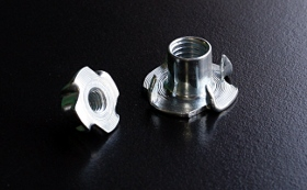 BZP Metric 4 Prong Tee Nuts