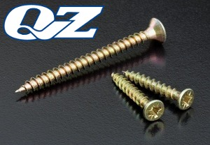 YZP 3mm Chipboard Screws QZ Pozidriv Countersunk