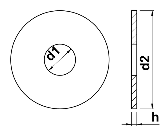 technical drawing of Fender Washers