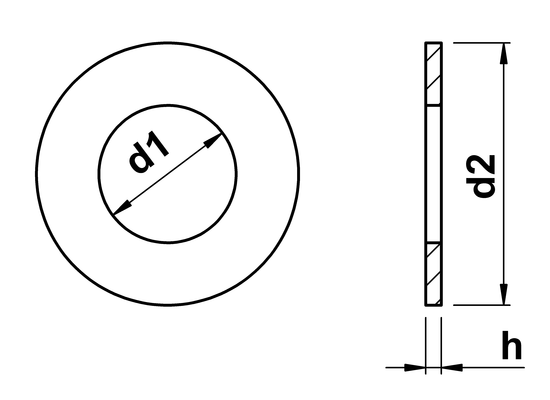 technical drawing of Form B Washers
