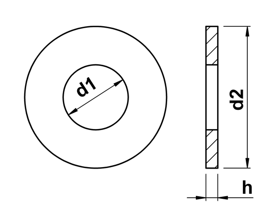 technical drawing of Form C Washers
