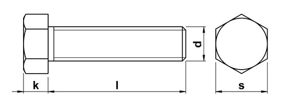 Hex Bolt Full Thread UNC 9/16 x 1-3/4 inch in Bright Zinc Plate Grade 5  Steel