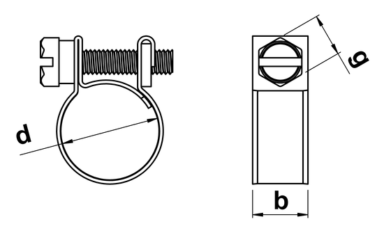 technical drawing of Mini Clips