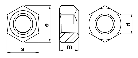technical drawing of Stover Nuts