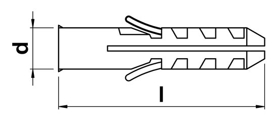 technical drawing of Wall Plugs