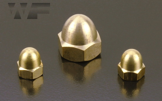 Dome Nuts DIN 1587 in BRASS image