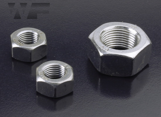 Full Hex Nuts Fine Pitch - ISO 8673 (DIN 934) in A4 image