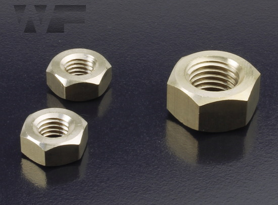 Full Hex Nuts Standard Pitch - ISO 4032 (DIN 934) in BRASS image