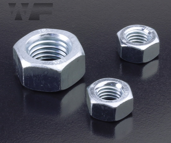 Full Hex Nuts Standard Pitch - ISO 4032 (DIN 934) in BZP-8 image