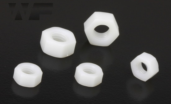 Full Hex Nuts Standard Pitch - ISO 4032 (DIN 934) in Nylon image