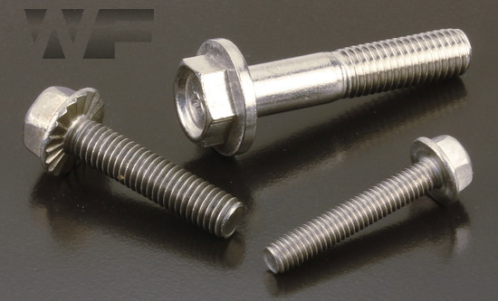 Hex Head Flange Bolts ISO 1665 (DIN 6921) in A2 image