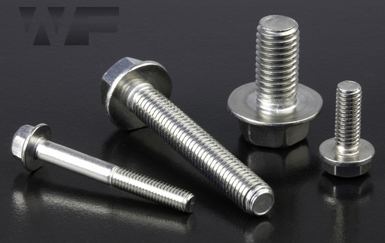 Hex Head Flange Bolts without Serrations EN 1665 / DIN 6921 in A2 image