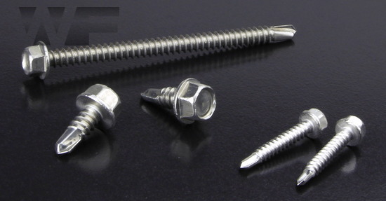 Hex Head Self Drilling Screws With Flange in A4 image