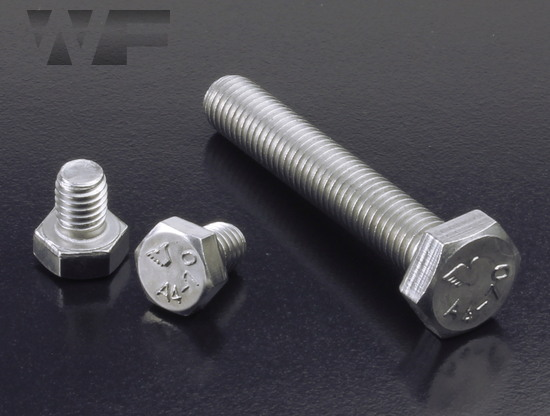 Hex Head Setscrews ISO 4017 (DIN 933) in A4 image