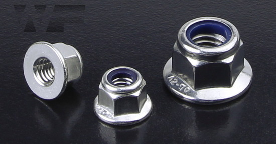 Hex Plain (Non-Serrated) Flange Nuts with Nylon Insert in A2 image
