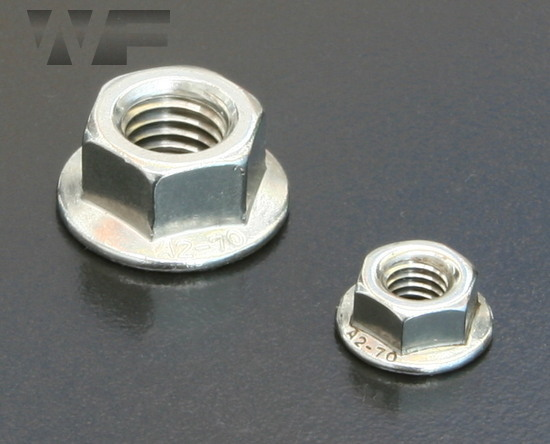 Hex Serrated Flange Nuts EN 1661 (DIN 6923) in A2 image
