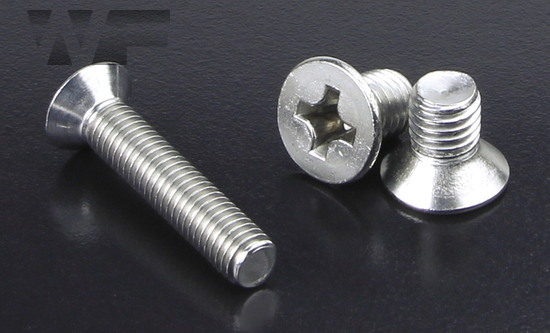 Machine Screw Phillips Countersunk M2 x 14mm in A2 Stainless