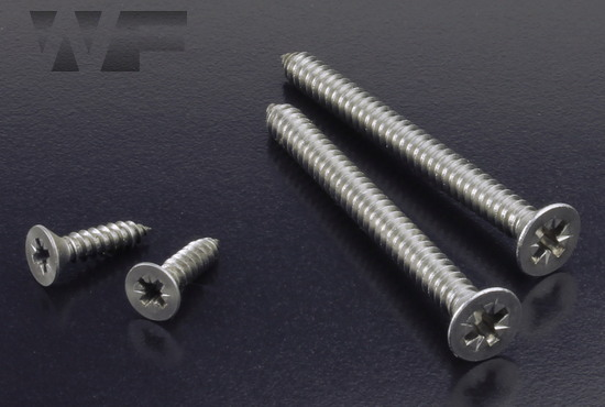 Pozi Csk Tapping Screws Type C (AB) ISO 7050 (DIN 7982Z) in A4 image