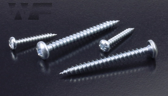QZ Pozi Pan Head Chipboard Screws in BZP image
