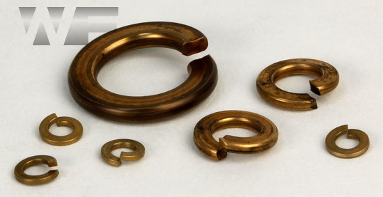 Rectangular Section Spring Washers DIN 127 in Bronze image
