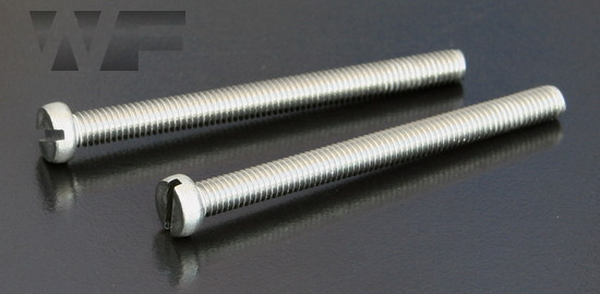 Slotted Cheese Head Machine Screws ISO 1207 (DIN 84) in A2 image