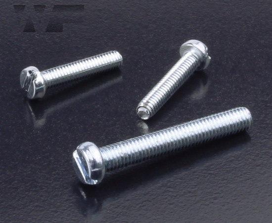 Slotted Cheese Head Machine Screws ISO 1207 (DIN 84) in BZP image