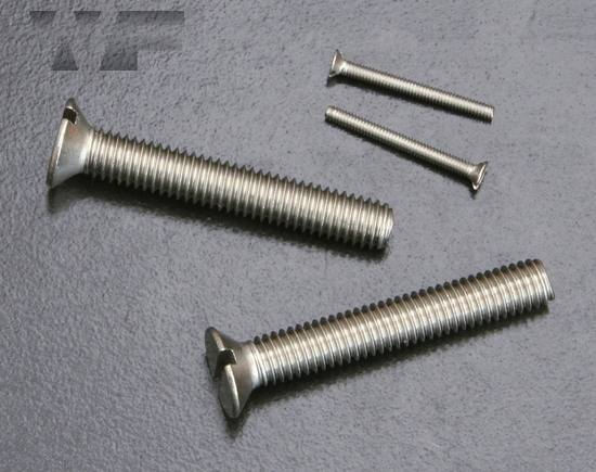 Slotted Csk Machine Screws ISO 2009 (DIN 963) in A2 image
