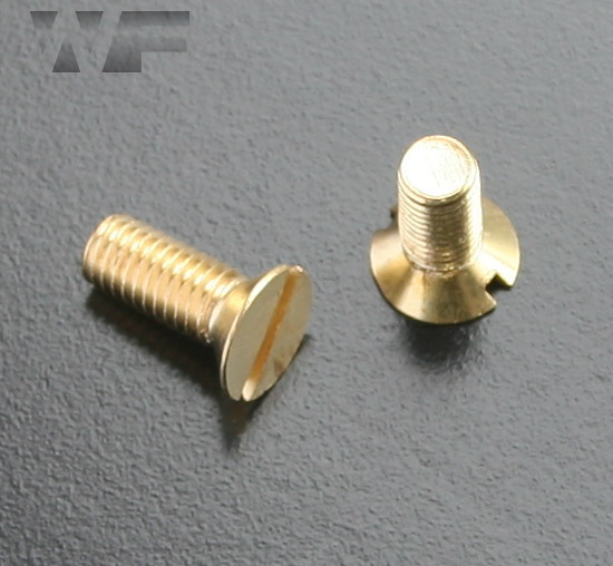 Slotted Csk Machine Screws ISO 2009 (DIN 963) in BRASS image