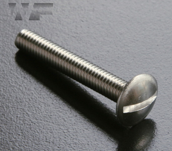 Slotted Mushroom Head Screws in A2 image