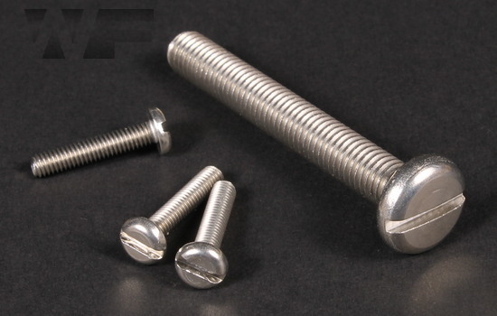 Slotted Pan Machine Screws ISO 1580 (DIN 85) in A2 image