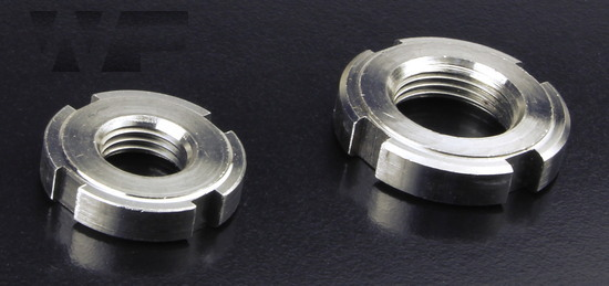 Slotted Round Nuts for hook spanner DIN 1804 in A2 image