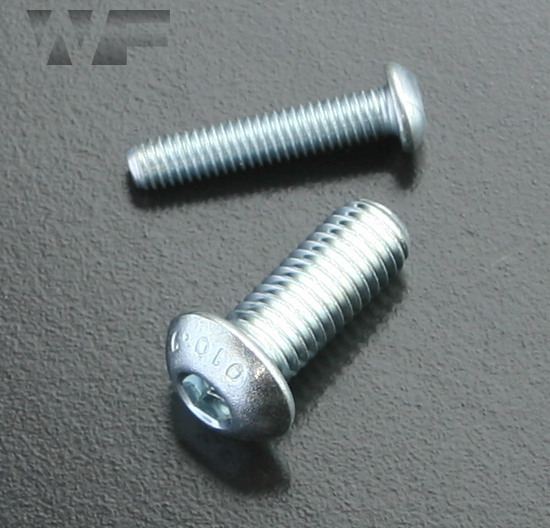 Socket Head Button Screws ISO 7380 part 1 in BZP-10.9 image