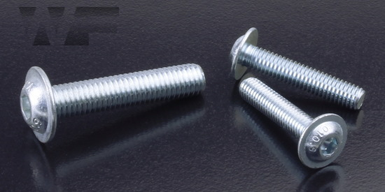 Socket Head Button Screws With Flange ISO 7380 part 2 in BZP-10.9 image