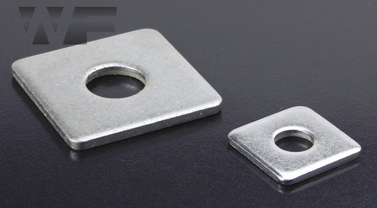 Square Plate Flat Washers DIN 436 in A2 image