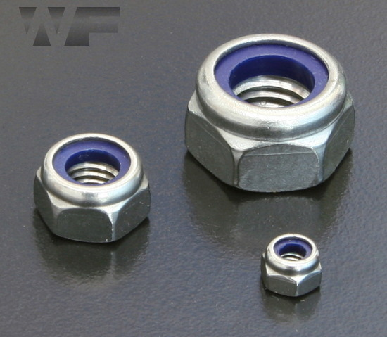 Thin Nyloc Nuts (Type T) ISO 10511 (DIN 985) in A4 Stainless