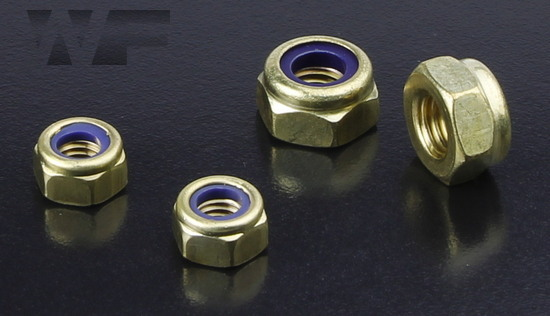 Thin Nyloc Nuts (Type T) ISO 10511 (DIN 985) in BRASS image