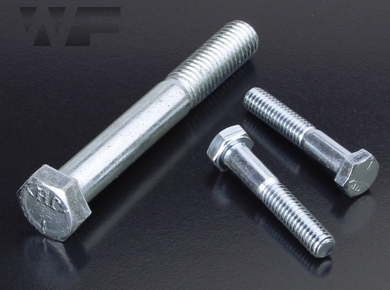 Image of UNC Hex Head Bolts ASME B18. 2.1 in BZP-G5 image