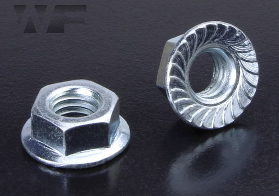 UNC Hex Serrated Flange Nuts in BZP image
