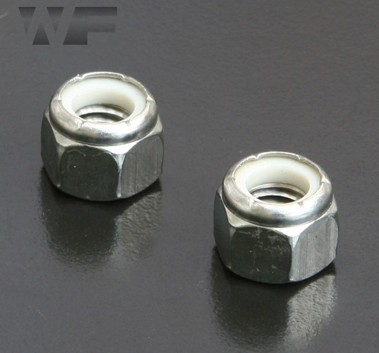 UNC Nylon Insert Hex Nuts IFI-100/107 in A2 image