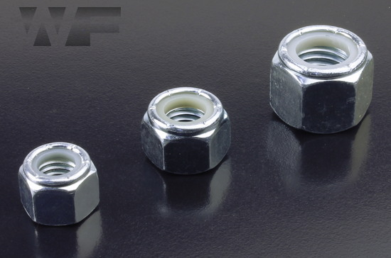 UNC Nylon Insert Hex Nuts IFI-100/107 in BZP image