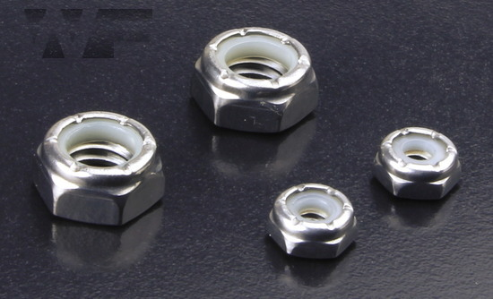 UNC Nylon Insert Hex Nuts Thin Type in A4 image