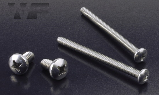 Image of UNC Phillips Pan Head Machine Screws ASME B18.6.3 in A2 image