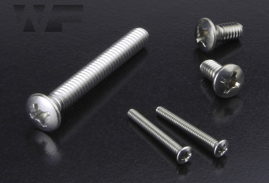Image of UNC Phillips Raised Countersunk Machine Screws ASME B18. 6.3 in A2 image